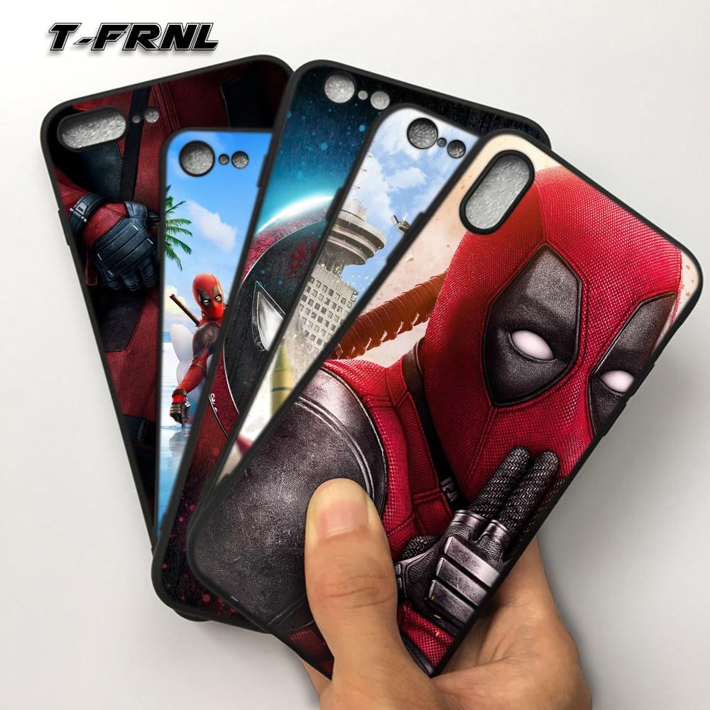 For Coque iPhone SE դեպքում 5 5S 6 6S 7 8 Plus DEADPOOL - Բջջային հեռախոսի պարագաներ և պահեստամասեր - Լուսանկար 1
