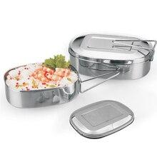 Envío Libre Estudiante Caja Bento de Acero Inoxidable Vajilla Portable Cubo de Cena Cocina Vajillas Envase de Alimento