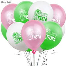 Shiny Eyes 10pcs 12inch FIESTA Balloons Cactus Spanish Happy Birthday Feliz Cumpleanos Giant Balloon Baby Shower Summer Party feliz feliz aburrimiento