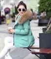 2016 Winter Jacket Women Down Jacket 1950s Parka Fur Collar Thickening Cotton Padded Winter Coat Manteau Femm