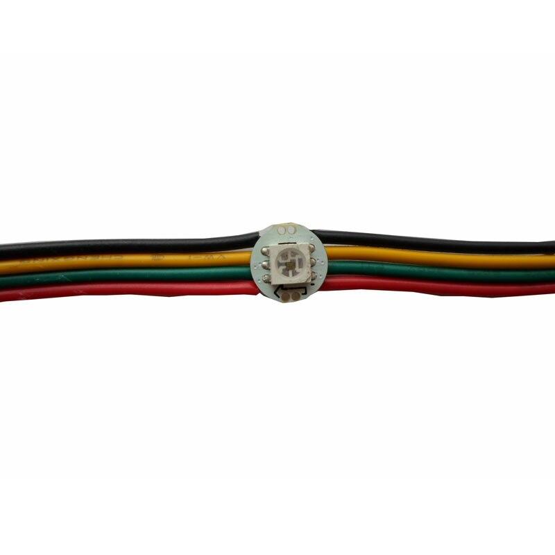 100 1000X Programmable DC5V 0 2W SK9822 5050SMD RGB LED CHIP pre solder on 10mm heatsink
