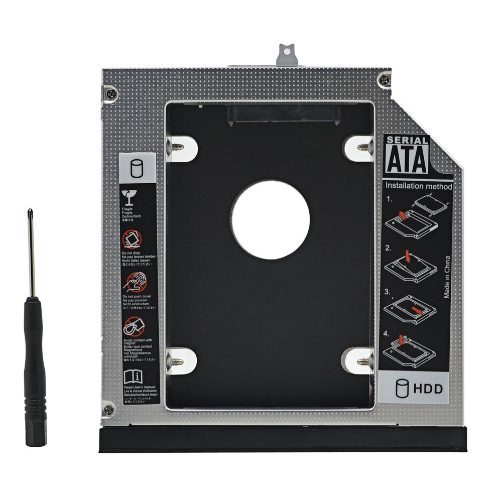 Aluminum Box 2nd HDD Caddy 12.7mm SATA 3.0 2.5