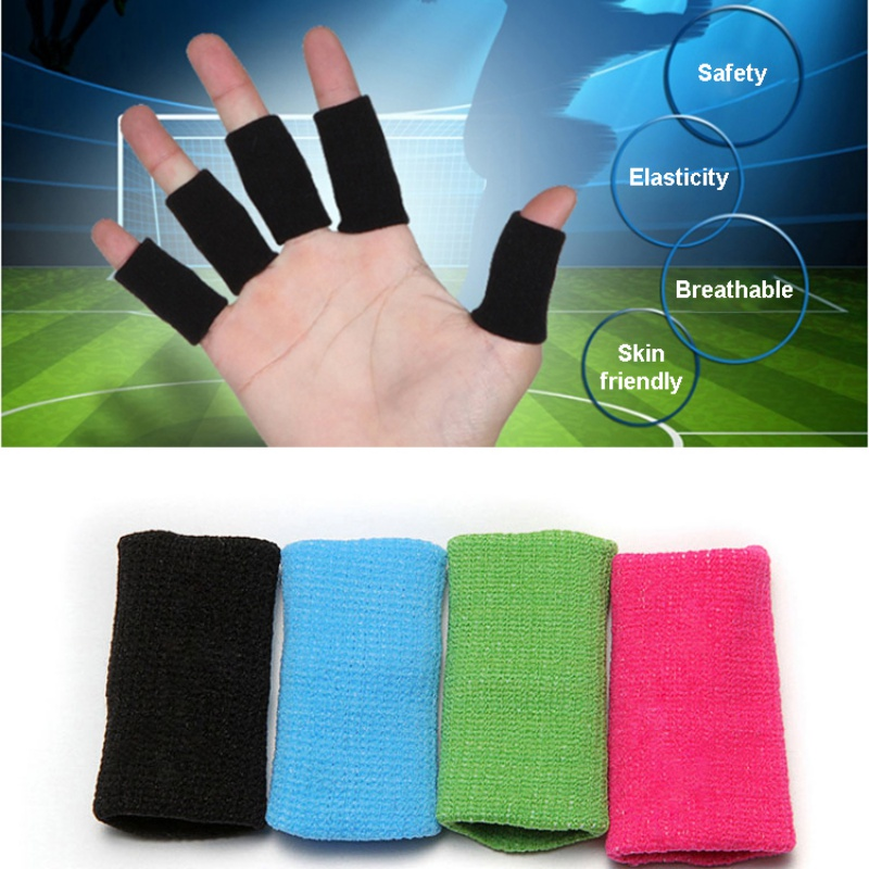 5pcsSport Finger Splint Guard Bands Finger Protector Guard Support Stretchy Sports Aid Band Volleyball basketball finger