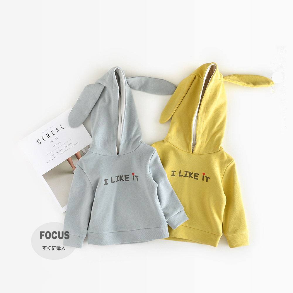 Girls Jacket Coat Girls Hoodies Spring Autumn Kids Rabbit Ear Hooded Sweatshirt Girls Tops Letter Printed T Shirt Baby Clothes