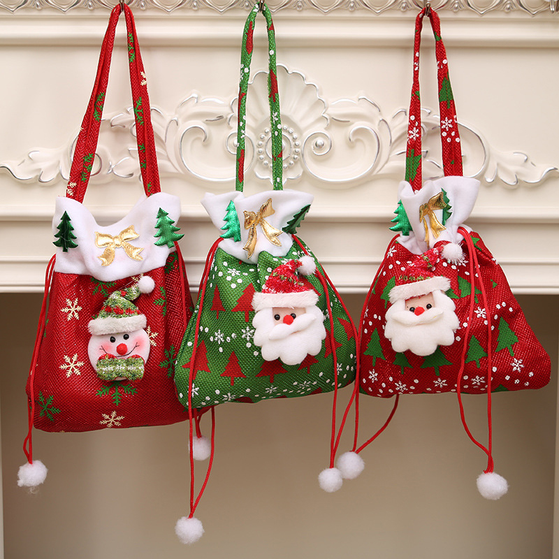 High Quality New Year Christmas Xmas Decor Nonwovens Candy ...