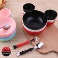 Дети Чаша Посуда набор Мультфильм Творческий Пластина детская Пластиковая Посуда Прекрасный Lunch Tray Dishs AA
