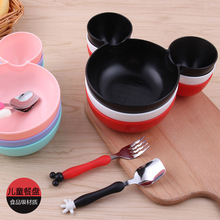 Dětský set na jídlo s Mickey Mousem – miska s ušima a příbor