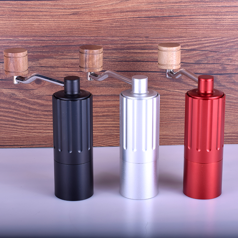 Mini Manual stainless steel core Coffee Grinder Adjustable Coffee Mill with Storage Rubber Loop Easy Cleaning