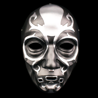 Masquerade Costume HARRY POTTER Death Eater Cosplay Prop Resin Mask Men Women Halloween PropMask Lucius Malfoy Face Mask Gifts