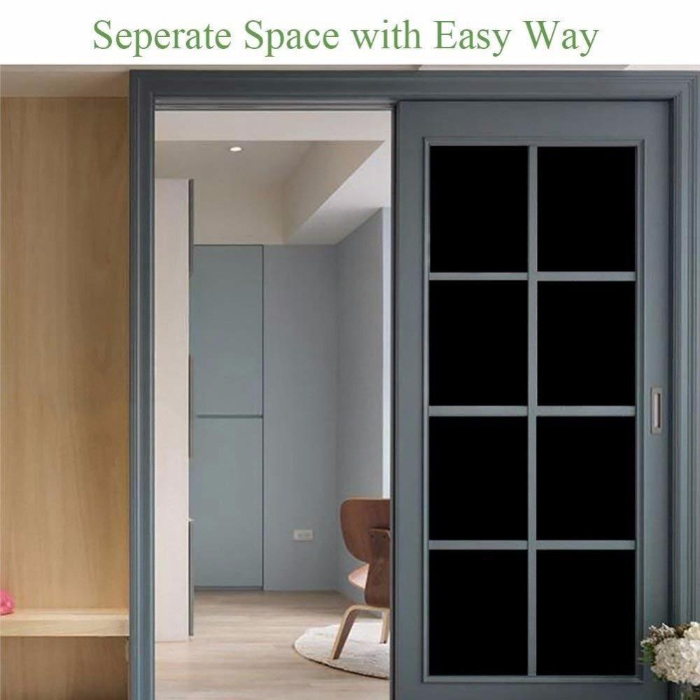 152cm*600cm 0% VLT black window film privacy Home Bathroom Bedroom Use Window sticker thermal insulation 60''x236.22''