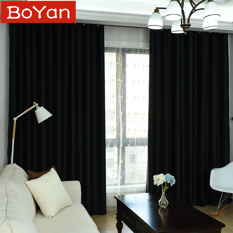 US $16.92 41% OFF 4 Colors High Shading Rate 98% Video Inside Black  Chocolate Blackout Curtains for Bedroom Coffee Blinds Window Treatment  Draps-in ...