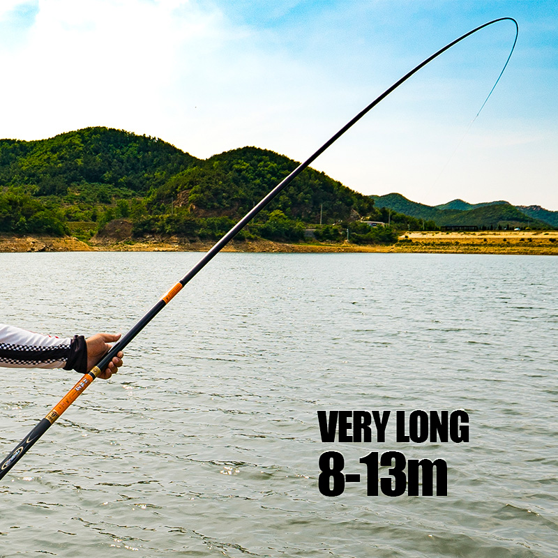 Handing quality8m 9m 10m 11m 12m 13m high Carbon fiber Super Hard Fishing Rod Telescopic Rod Sea fishing Rod Taiwan Fishing Rod