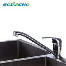 New Style Deck Mounted Kitchen Sink Faucet Hot and Cold Water Chrome/ Mixer Tap 360 degree rotation Basin mixer TL085 free shipping brand new chrome kitchen faucet economic style for sink hot cold water tapware