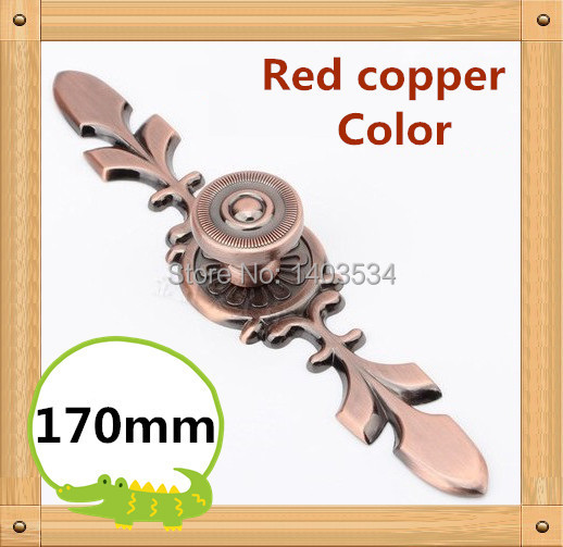 ⑤170mm rojo de cobre aleación de zinc Muebles de cocina maneja el ...