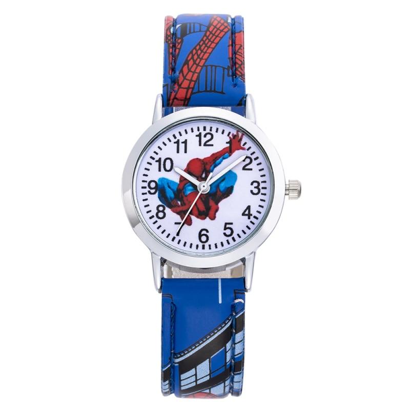 Children SpiderMan Watch 2019 New Stylish Kids Cute Cartoon Wristwatch Leather Watchband Casual Students Clock