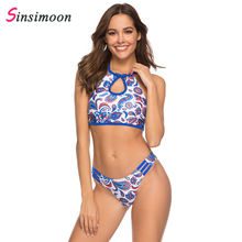 Sexy backless striped hollow out swimwear women Spring summer one-piece suits water sports