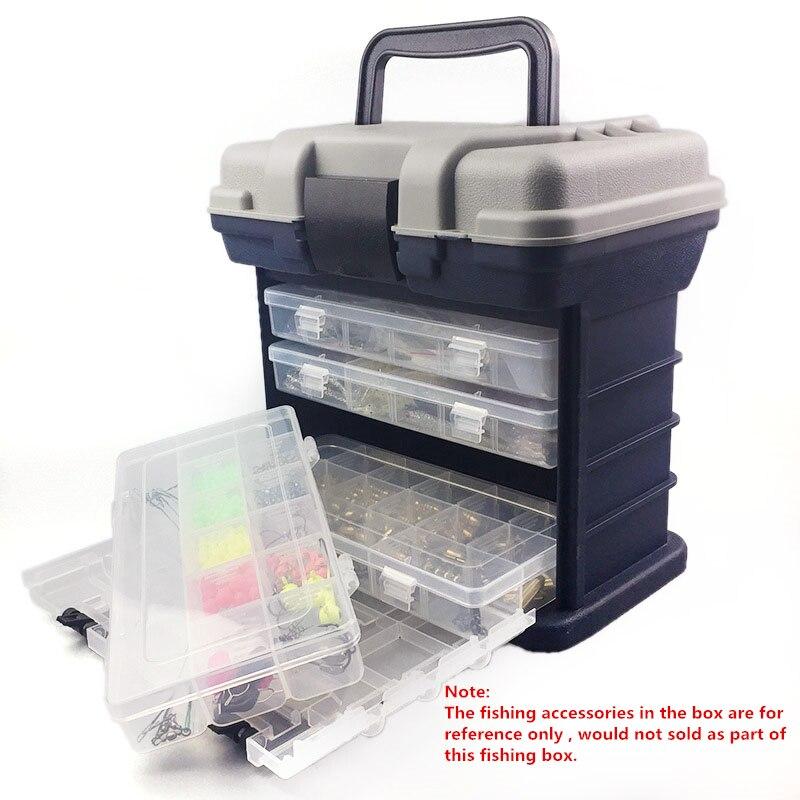 27*17*26cm 5 Layer PP+ABS Big Fishing Tackle Box High Quality Plastic Handle Fishing Box Carp Fishing Tools Fishing Accessories