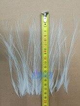 Wholesale  50pcs Rare Pure White Egret Feather Silk 15-20cm/6-8inch Wild Birds