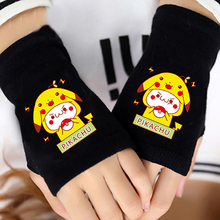 HOT Anime Pocket Monsters Pokemon Half Finger Cotton Knitting Gloves Accessories Fingerless Mitten Lovers Cosplay Warm Gifts NEW