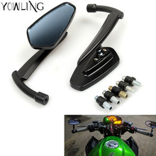 For yamaha YZF R1 R6 FZ1 FZ6 FZ800 XJ6 XT 660 R MT125 mt09 7/8 Bar End Rear Mirrors Scooters Rearview Mirror Side View