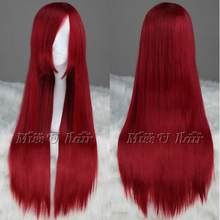 WIG FAIRY TAIL Erza Scarlet Long Dark Red Cosplay Party Wig Hair Free Shipping(China)