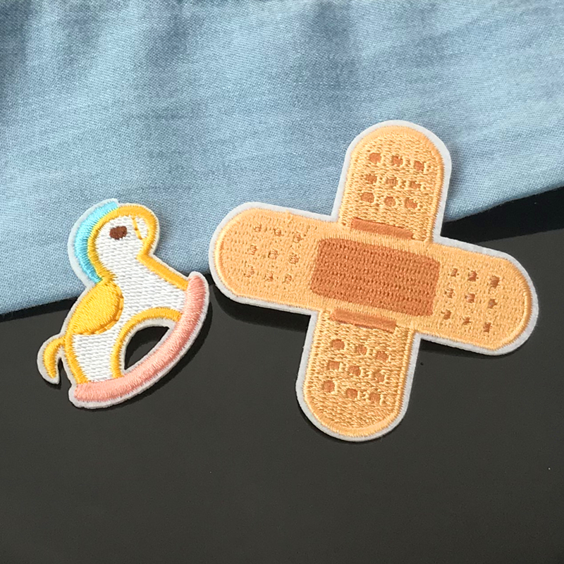 1 Piece Bandage Embroidery Repair Patches Bag Jacket Jeans Cartoon Iron On Patches for Clothes Small 1 Piece Bandage Embroidery Repair Patches Bag Jacket Jeans Cartoon Iron On Patches for Clothes Small Glue Sticker