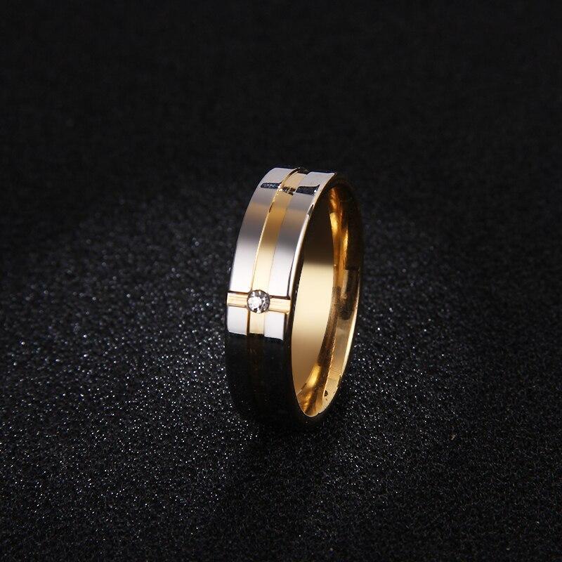 Женские кольца из нержавеющей стали DOTIFI, кольцо из циркония для помолвки и свадьбы