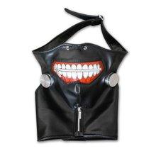 2016 Halloween Cool Cosplay Masks Tokyo Ghoul Kaneki Ken Halloween Party Adjustable Zipper Prop Mask