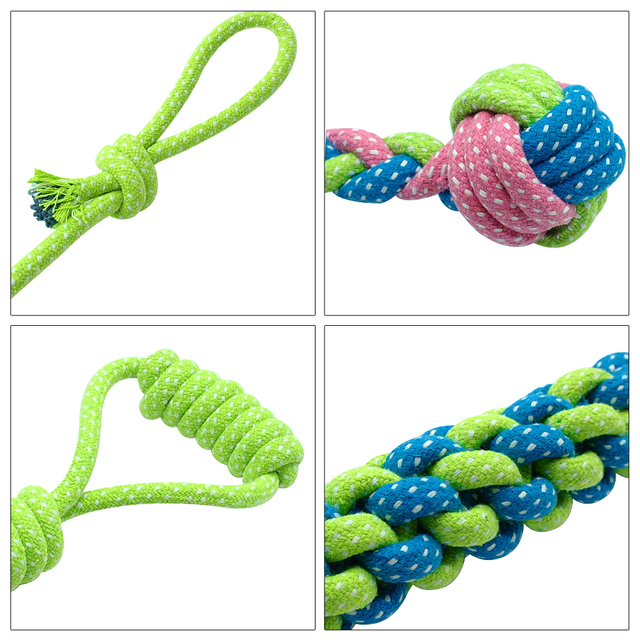 Dog's Rope Chew Toys 7 Pcs Set