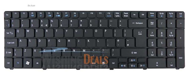 183cb98aa2b UK british black F3 Wireless Keyboard For Acer Aspire 7740 7740G 7740Z  7740ZG 7741 7741G 7741Z 7741ZG Laptop