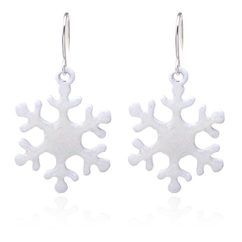 Hot Women Sweet Earrings Christmas Hollow Snowflake Bell Sleigh Christmas Tree Earrings For Women Gift 2018 Furniture