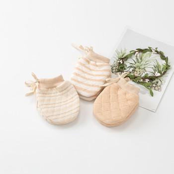 Nowe rękawiczki dziecięce miękkie wygodne rękawiczki dla noworodka naturalne bawełniane rękawiczki dla niemowląt rękawiczki dla niemowląt rękawiczki dla niemowląt tanie i dobre opinie GAOKE COTTON Stałe Dla dzieci Unisex LK943370 10*7cm Made in China