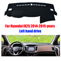 Car dashboard covers mat for Hyundai IX25 2014-2015 years Left hand drive dashmat pad dash cover auto dashboard accessories