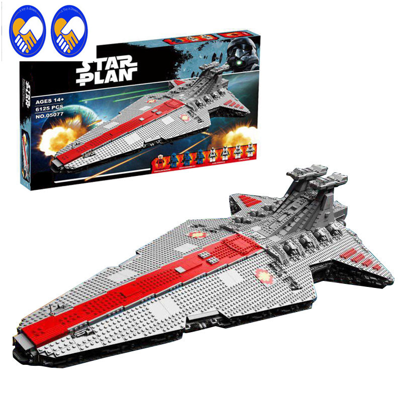 A Toy A Dream 10Pcs Lepin 05077 Genuine Star War Series The UCS Rupblic Star Destroyer Cruiser ST04 Building Blocks Bricks Toys rollercoasters the war of the worlds