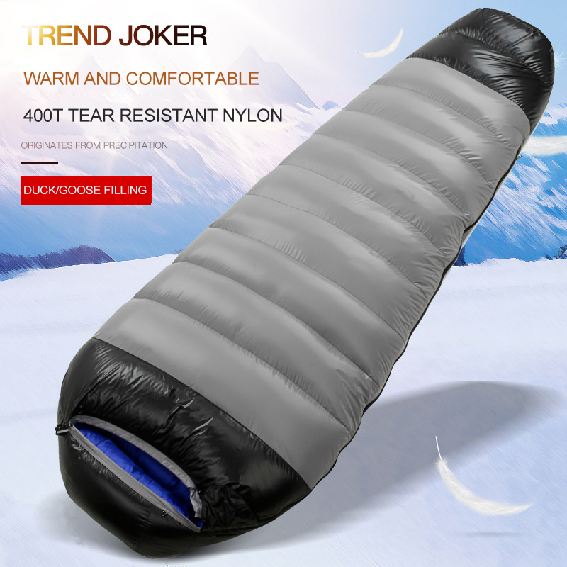 Adult Goose Down Ultra Light Sleeping Bags Splicing Double Sleeping Bag Camping Warm And Thickened Ventilation Sleeping Bag