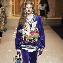 6d52a0993da New Hoodies Women Hoodies Brand Luxury Designer Runway Hoodies Angel Crown  Embroidery Letter Rabbit Velvet Loose Pullovers