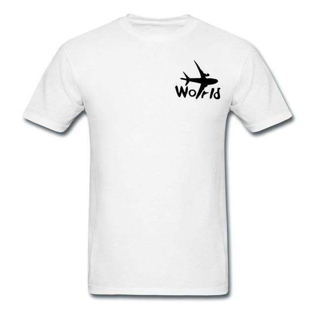 On Sale Personalize Cotton Mans T Shirt World Txt Airplane Design ...