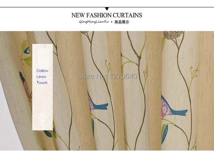 Aliexpress.com : Buy Rustic style window curtains beautiful Bird ...