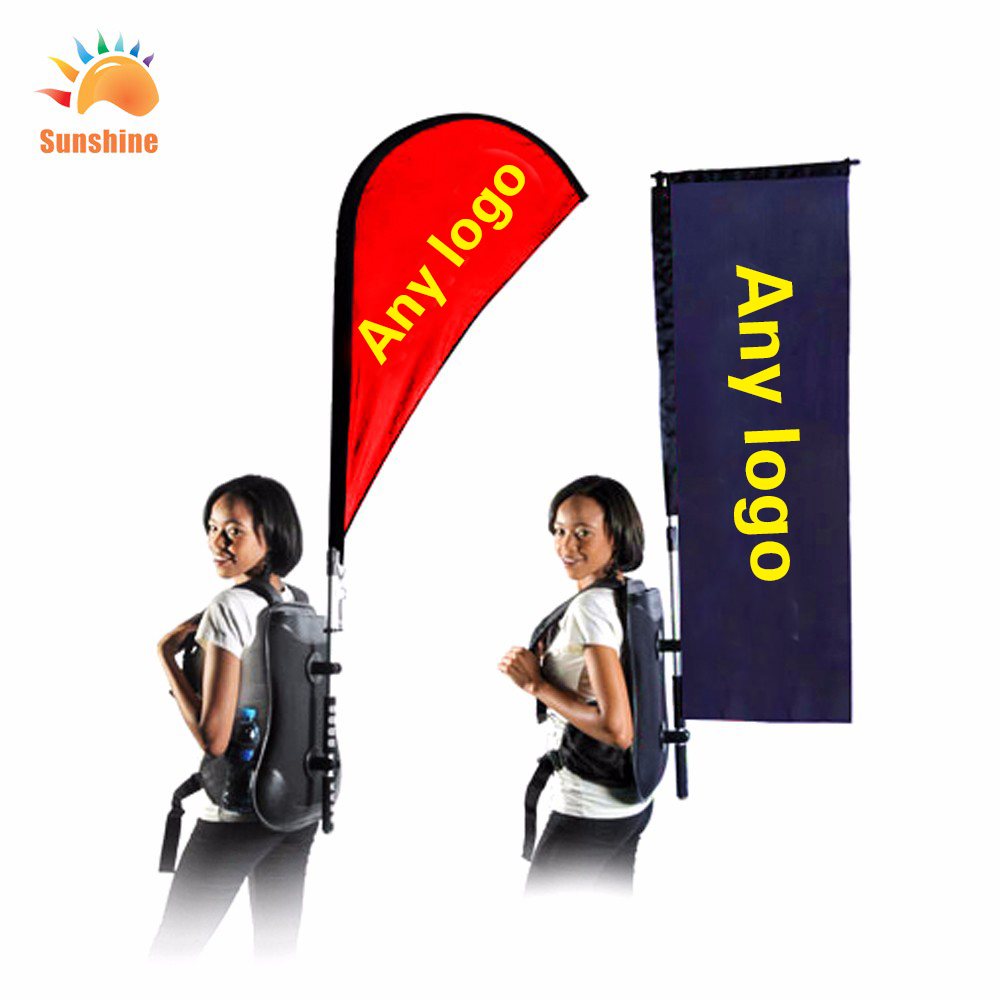 Best Quality Free Dedign Customized Teatdrop Flag Backpack Banner feather flag