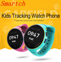 Smartch S668 Waterproof Kid Smart Watch Round Screen Wristwatch GPS SOS Remote Monitoring for kids Adults for iOS Android Smart
