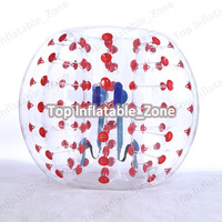 Free shipping 1.0mm TPU 1.7m inflatable bubble football high quality bubble soccer ball