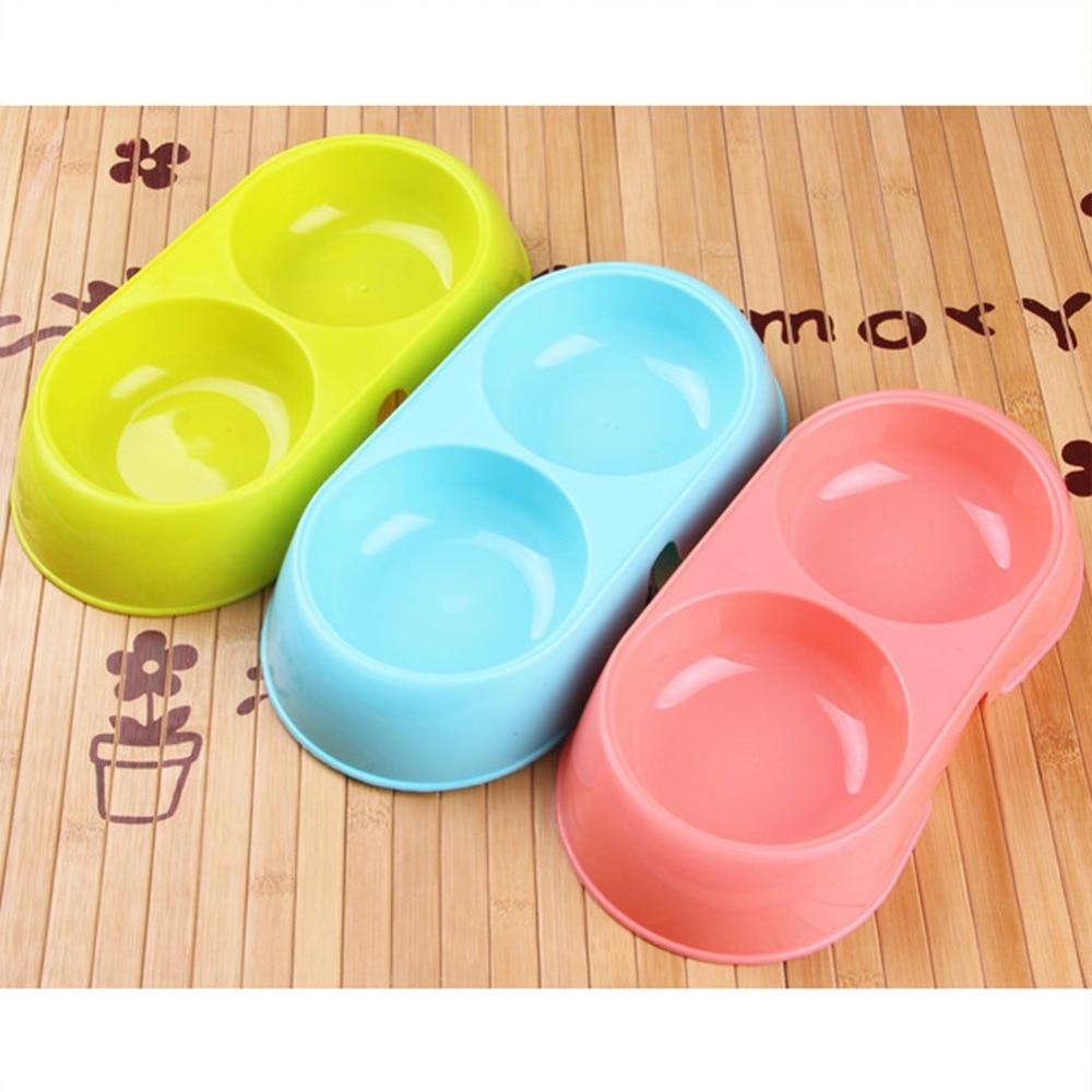double food bowls for pet dog hot sale plastic dog bowl plastic water food dog bottles feeding bowls puppy cat bowls - Cat Bowls