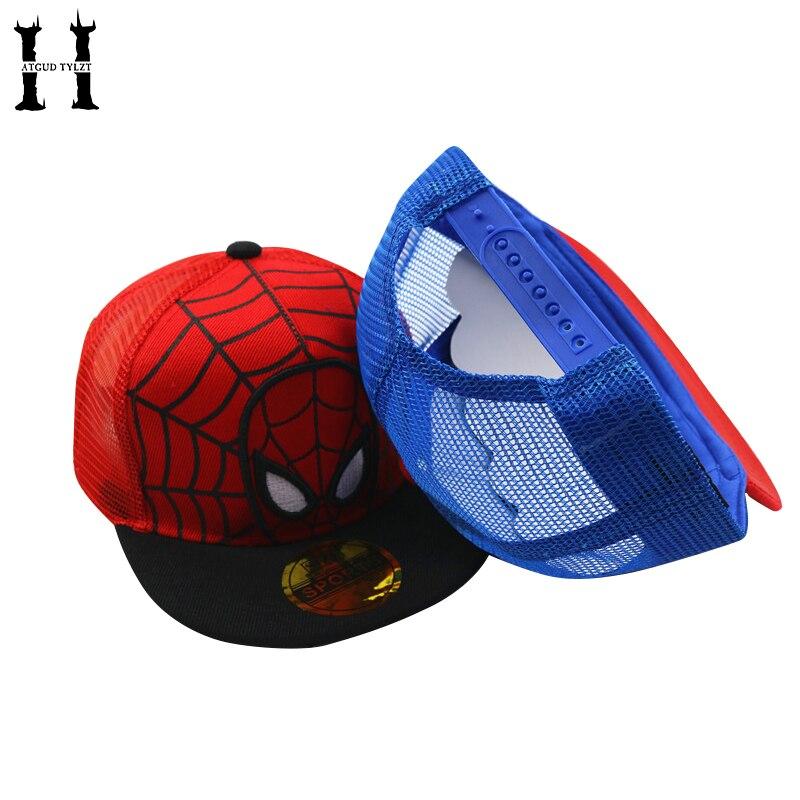 HATGUD TYLZT Мода Холст Новый Человек-паук Детский Бейсбол чистая Кепки милые открытый мальчик девочка хип-хоп шляпа ВС кепки подходит для Для де...