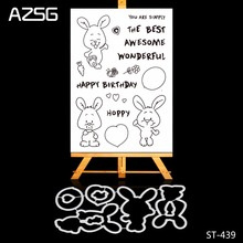 Mr Rabbit Transparent Clear Silicone Stamp/Seal for DIY Scrapbooking/photo Album Decorative Clear Stamp Sheets