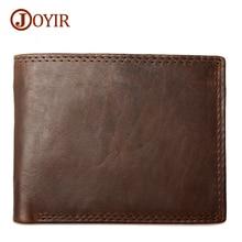 Joyir new fashion 2017 genuine leather man wallets brand real genuine leather short wallets men money bags Purse 521