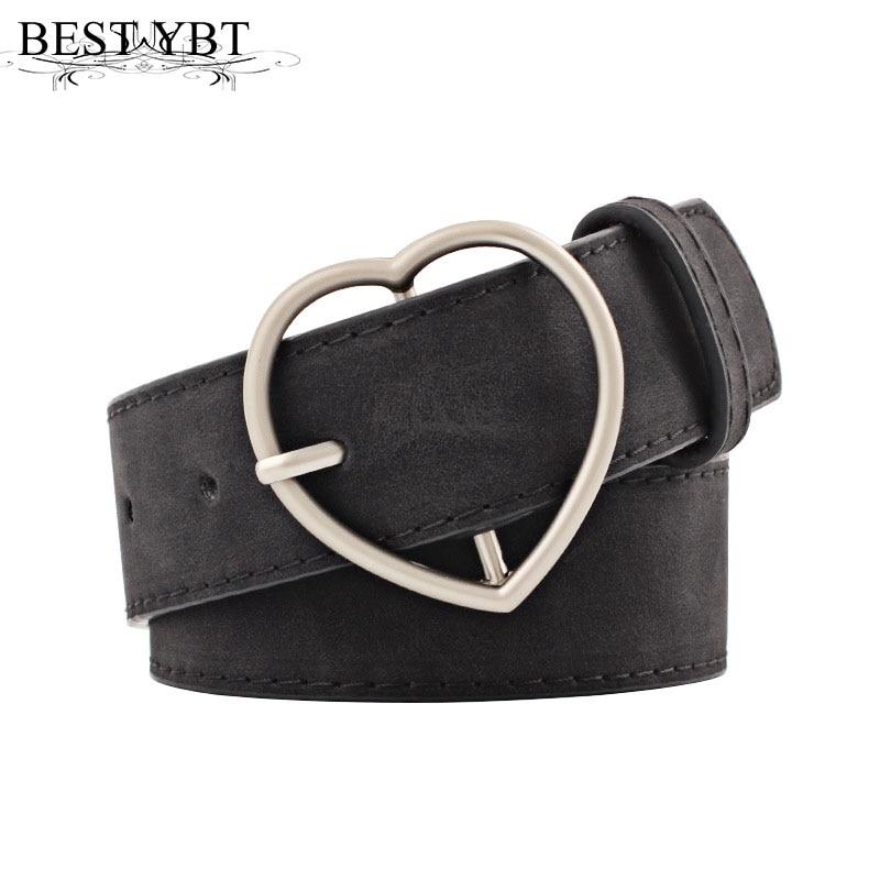 Best YBT Women   belt   Metal Heart Buckle Corset Wide Waist for Woman Black Quality PU Pin   belt   for Dress Jeans Female   belt