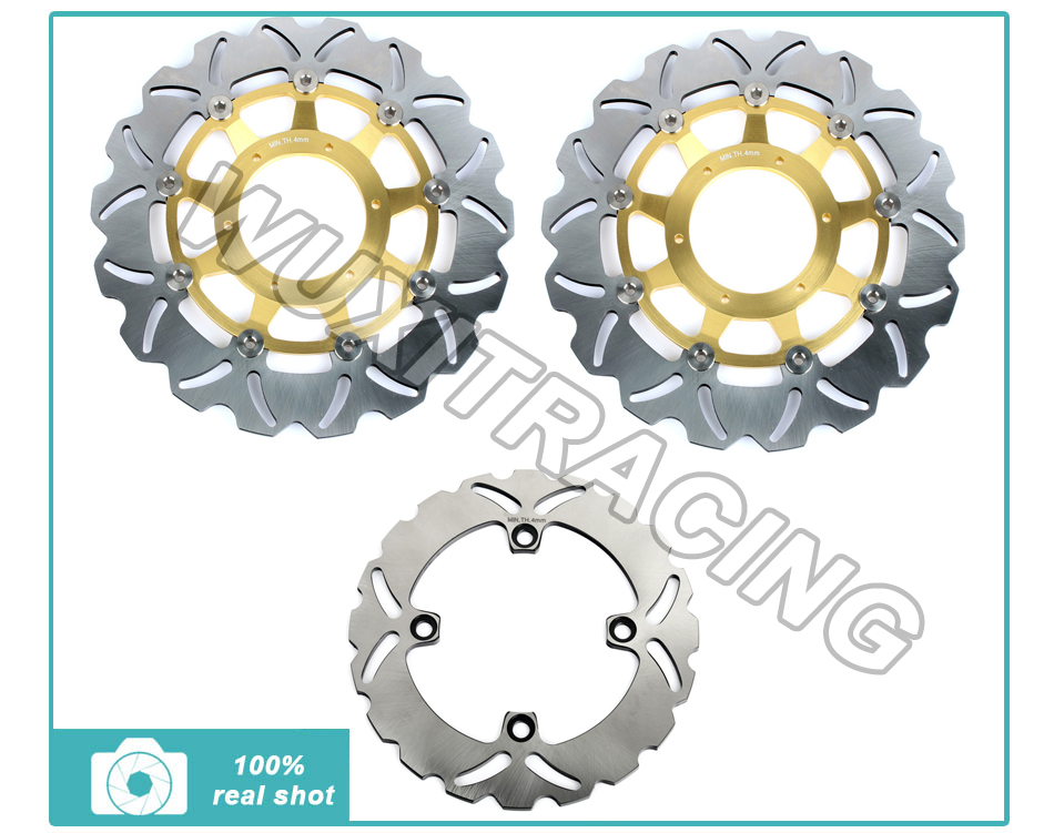 01 02 03 04 05 06 07 Front Rear Brake Discs Rotors Disks fit for Honda CBR 600 F4i (US) Sport F4i Sport (UK) SuperSport F4 крепежная деталь в салон авто rootisbb 30pcs honda fit s2000 01 02 03 04 05 oem