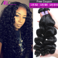 Grade 8A Loose Wave Malaysian Hair Weave Bundles 100% Unprocessed Virgin Human Hair Malaysian Loose Wave Virgin Hair 3 Bundles