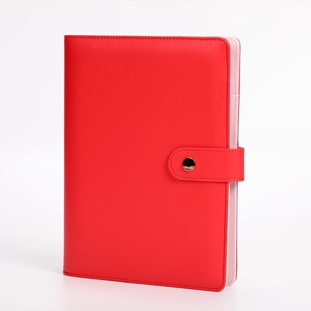 macaron harphia vermelho loose leaf notebook a5 a6 6 buraco planejador diario 01