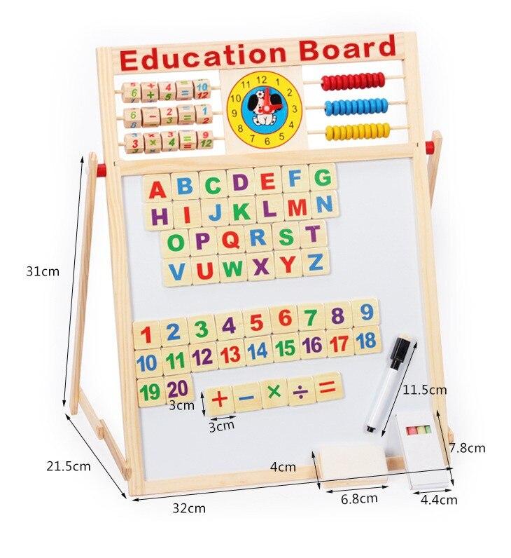 Montessori activités magnétique Alfabeto lettres Alphabet mathématiques matériaux penchés éducatifs en bois outils d'addition jouets Arcoiris
